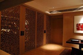 橙色中式风格玄关装潢案例