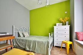 绿色清新简约儿童房设计图