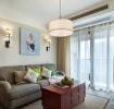 米色雅致文艺新古典风格客厅设计赏析
