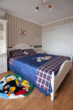 美式风格个性米色儿童房设计图