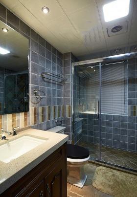 灰色东南亚风格卫生间设计图片