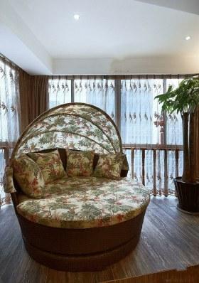 东南亚风格创意时尚阳台效果图设计