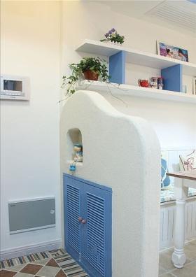 地中海风格可爱清新鞋柜设计