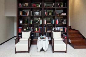 中式风格书柜收纳设计装潢