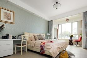 绿色简欧风格卧室装潢设计