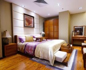 橙色新中式风格卧室装修