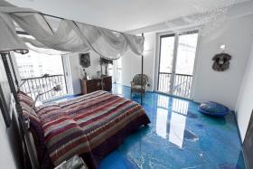 东南亚风格蓝色卧室装潢案例