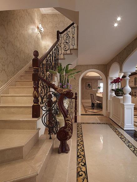 欧式华丽精致风格楼梯装修