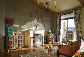 2016东南亚客厅窗帘装潢设计
