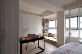 白色简约风格卧室隔断设计赏析