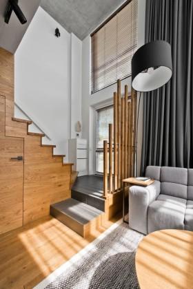 简约风格质感灰色楼梯装修设计