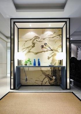中式风格雅致背景墙装修设计