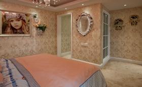 欧式粉色卧室效果图欣赏