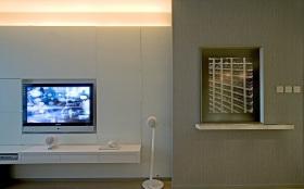 白色现代简约卧室背景墙赏析