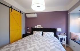 紫色简约风格卧室装修效果图片