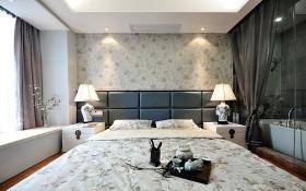 雅致中式时尚卧室飘窗装修设计