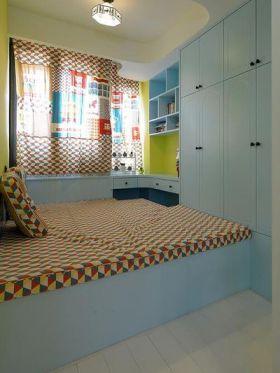 蓝色地中海风格卧室榻榻米效果图赏析