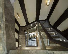 灰色新中式改良风格楼梯装潢设计