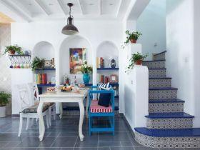 浪漫时尚地中海风格白色楼梯装修案例