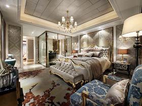 灰色豪华新古典风格卧室设计图片