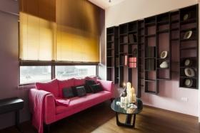 创意粉色简约休闲客厅设计赏析