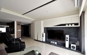 黑色简约风格客厅背景墙赏析