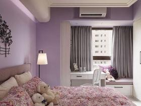 田园风格卧室飘窗装修图片欣赏