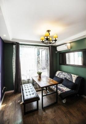 美式风格客厅窗帘设计案例
