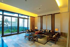中式雅致古典客厅效果图设计