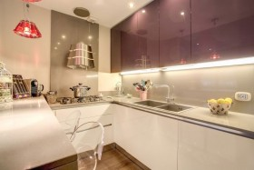 白色简约风格厨房装饰案例欣赏