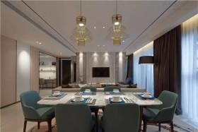 精致淡雅现代风格餐厅装潢设计