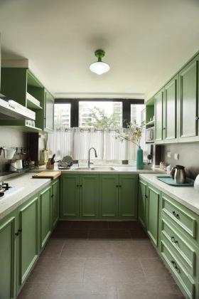 宜家风格清新绿色厨房装修效果图