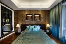 2016优雅东南亚卧室窗帘设计图片