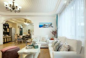 休闲地中海风格白色客厅装修美图欣赏