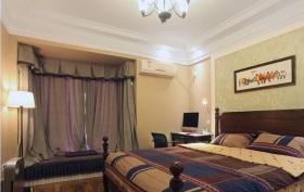 紫色温馨混搭风格卧室装修案例