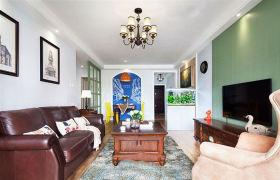 摩登雅致美式风格客厅背景墙图片