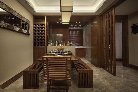 雅致东南亚餐厅装修设计图
