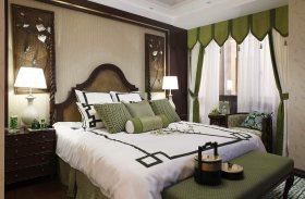 东南亚风格卧室窗帘装修