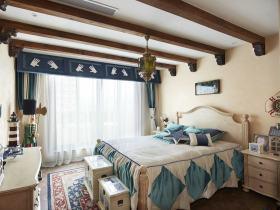 米色清新地中海风格儿童房装饰图