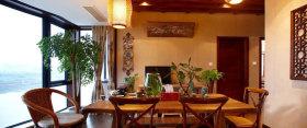 褐色中式餐厅图片欣赏