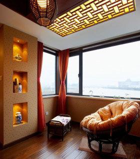 雅致中式风格阳台装修设计图