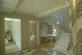 白色雅虎清爽现代风格楼梯装修效果图欣赏