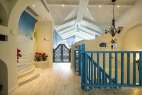 地中海浪漫海蓝风格楼梯美图