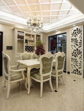白色精致简欧风格米色餐厅装修