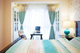 田园风格卧室窗帘赏析