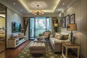 精致复古田园风格客厅装潢效果图赏析
