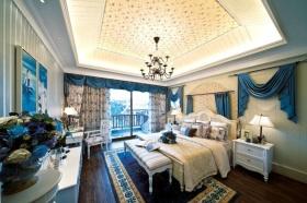 地中海风格卧室吊顶设计装潢