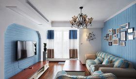 蓝色地中海客厅装修设计案例