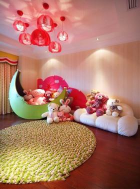 粉色可爱东南亚风格儿童房设计欣赏