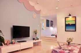 宜家风格浪漫粉色客厅装修赏析